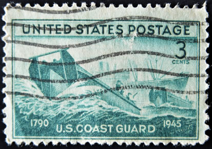 1945 US Stamp Honoring the Coast Guard