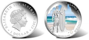 2013 $1 Surfing Gold Coin from Land Down Under Series