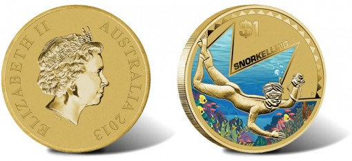 2013 $1 Young Collectors Snorkelling Coin