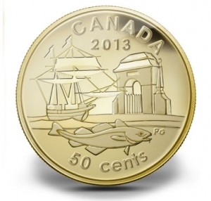 2013 300th Anniversary of Louisbourg Gold Coin