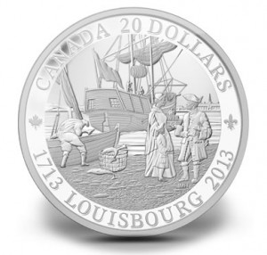 2013 300th Anniversary of Louisbourg Silver Coin