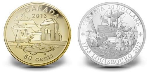 2013 Canadian 300th Anniversary of Louisbourg Coins