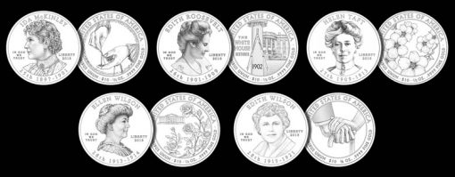 2013 First Spouse Gold Coin Designs
