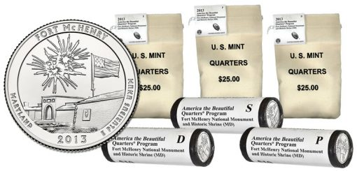 2013 Fort McHenry Quarter Bags and Rolls