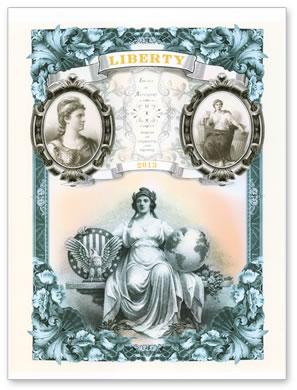 2013 Liberty Intaglio Print