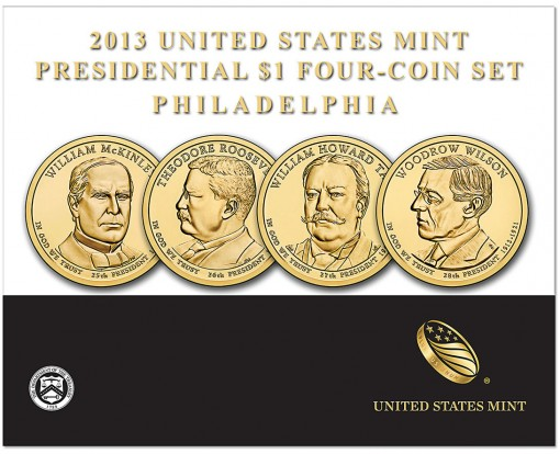 2013 Presidential $1 Four-Coin Set from Philadelphia