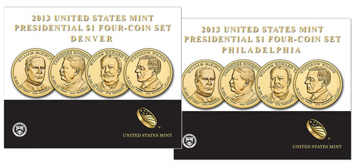 2013 Presidential $1 Four-Coin Sets