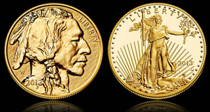 2013 Reverse Proof Buffalo and 2013 Proof Gold Eagle