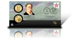 2013 William Howard Taft Presidential $1 Coin Cover