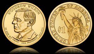 2013 Woodrow Wilson Presidential $1 Coin