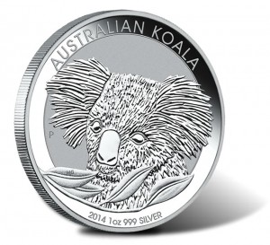 2014 Australian Koala One Ounce Silver Bullion Coin