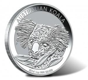 2014 Australian Koala One Ounce Silver Bullion Coin