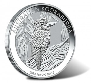2014 Australian Kookaburra One Ounce Silver Bullion Coin