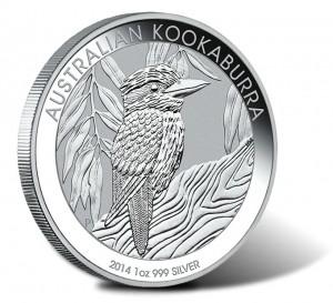 2014 Australian Kookaburra One Ounce Silver Bullion Coin