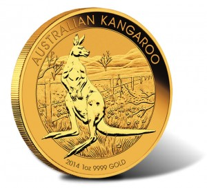 2014 One Ounce Australian Kangaroo Gold Bullion Coin
