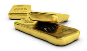 Bullion Gold Bars, Three