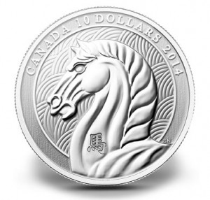 Canadian 2014 Year of the Horse 1/2 Oz Fine Silver Coin