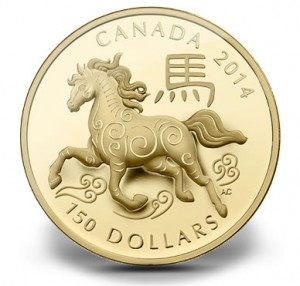 Canadian 2014 Year of the Horse 18-Karat Gold Coin
