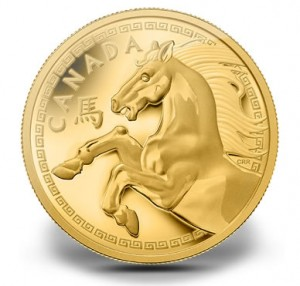 Canadian 2014 Year of the Horse Pure Gold One Kilogram Coin