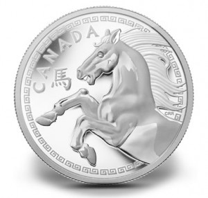 Canadian 2014 Year of the Horse Pure Silver One Kilogram Coin