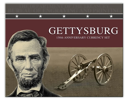 Cover of 2013 Gettysburg 150th Anniversary Currency Set