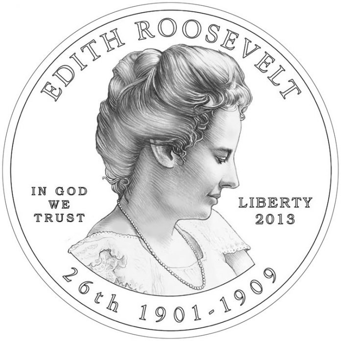 Edith Roosevelt First Spouse Gold Coin - Obverse Design
