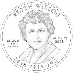 Edith Wilson First Spouse Gold Coin - Obverse Design