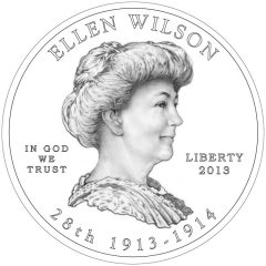 Ellen Wilson First Spouse Gold Coin - Obverse Design