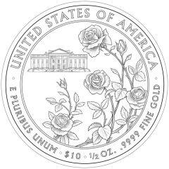 Ellen Wilson First Spouse Gold Coin - Reverse Design