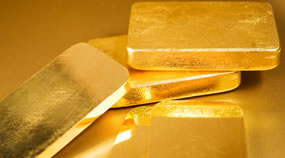 Five gold bars