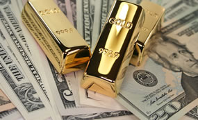 Gold Bars, US Money