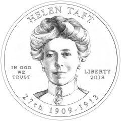 Helen Taft First Spouse Gold Coin - Obverse Design