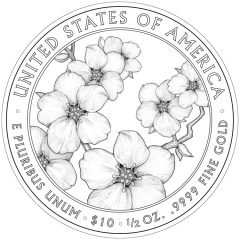 Helen Taft First Spouse Gold Coin - Reverse Design
