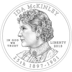 Ida McKinley First Spouse Gold Coin - Obverse Design