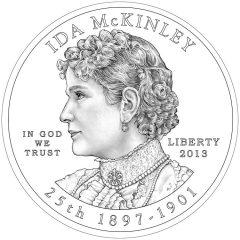 Ida McKinley First Spouse Gold Coin - Obverse Design