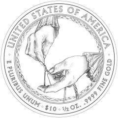 Ida McKinley First Spouse Gold Coin - Reverse Design