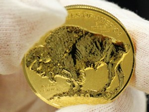 Reverse or Tails Side of 2013-W $50 Reverse Proof Gold Buffalo