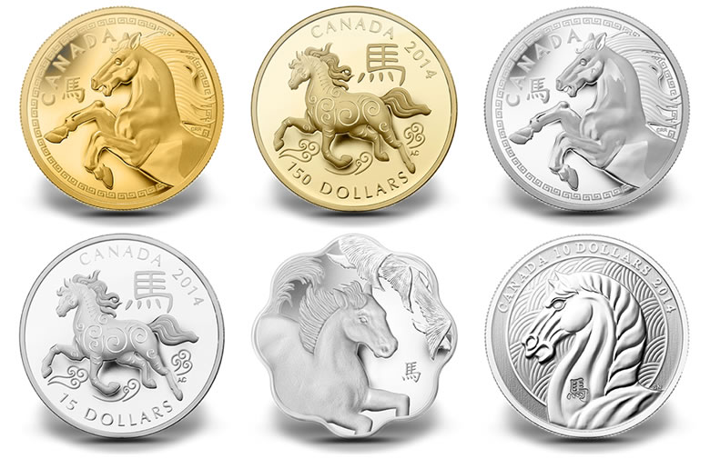 2014 Year Of The Horse Coins From Royal Canadian Mint