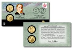 William Howard Taft Presidential $1 Coin Cover