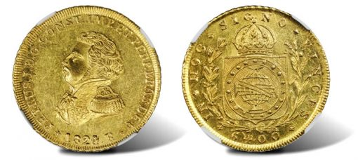 1824-R Brazilian Peca of Pedro I