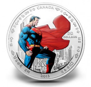 2013 $20 Man of Steel Superman Silver Coin