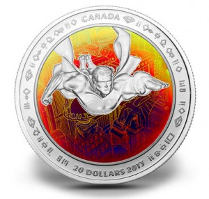 2013 $20 Metropolis Superman Hologram Silver Coin