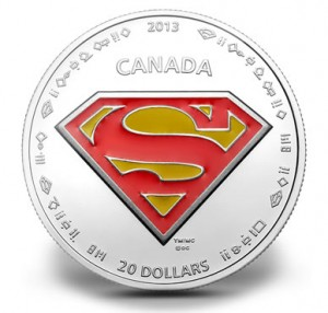 2013 $20 The Shield Superman Silver Coin