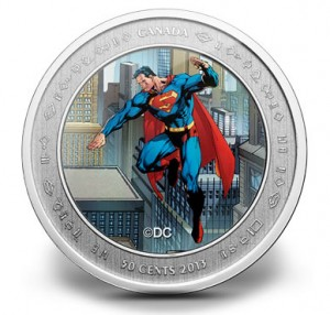 2013 50c Superman Lenticular Coin and Stamp Set