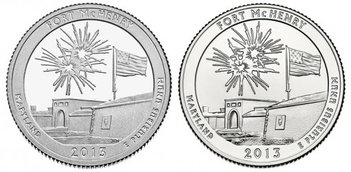 2013 Proof and Uncirculated Fort McHenry Quarters