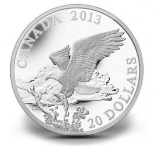 2014 $20 Bald Eagle Returning From the Hunt Silver Coin