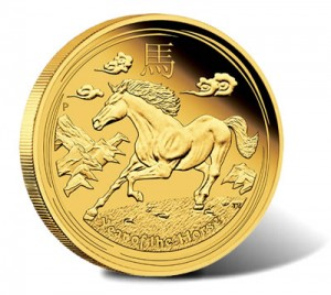 Australian Lunar 2014 Year of the Horse Gold Proof Coin