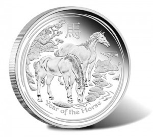 Australian Lunar 2014 Year of the Horse Silver Proof Coin