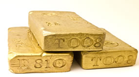 Bullion, 3 Gold Bars