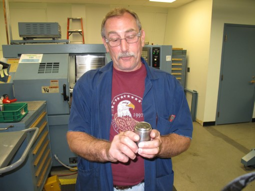 Earl Sandt, Hub Machined in the Okuma Lathe Turning Center